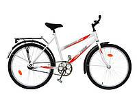 Велосипед підлітковий білий d24 Teenager 011 (червона деколь) ТМХВЗ