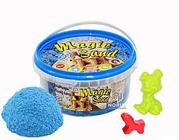 Кинетический песок Magik sand 350 гр ведро (370-2) Голубой