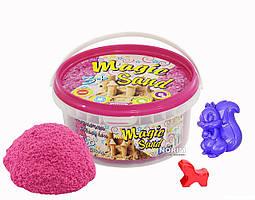 Кинетический песок Magik sand 350 гр ведро (370-3) Розовый