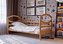Дитяче Підліткове ліжко з дерева в дитячу кімнату (кроватка) Наутілус 80 ДОК, фото 6