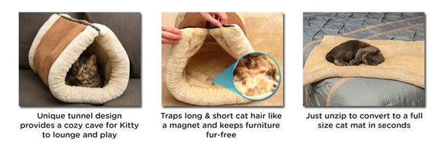 Домик-валик лежанка для кошек Kitty Shack
