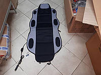 Накидка на  автомобильное сиденье c подогревом  Vitol 1 шт Черная с серым, фото 1
