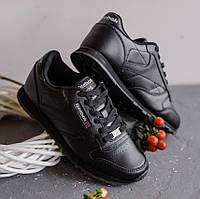 Кроссовки Reebok Classic Leather Black женские