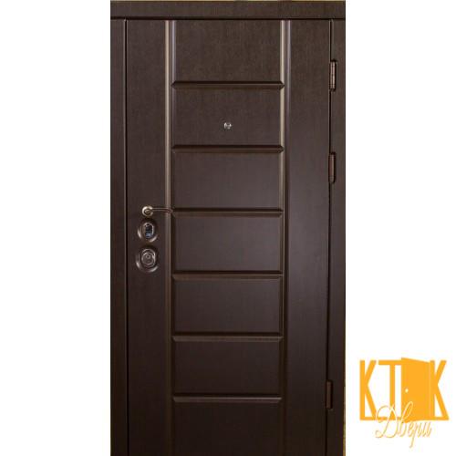 """Двери входные Канзас серии """"Элит Mottura"""" (венге)"""