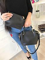 Женский модный комплект сумка + клатч 2В1 (расцветки)