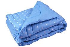 Одеяло Руно шерстяное двуспальное евро бязь 200x220 см  450г/м.кв (322.02ШУ_Blue)