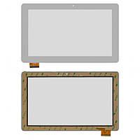 Сенсорный экран (touchscreen) для GoClever Quantum 1010 Mobile Pro, 50 pin, белый, оригинал