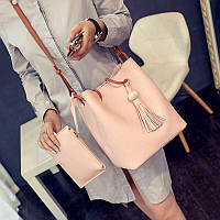 Женский модный комплект сумка + кошелёк 2В1 (расцветки)
