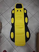 Накидка на  автомобильное сиденье Vitol 1 шт Черная с желтым, фото 1