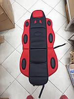 Накидка на автомобильное сиденье Vitol 1 шт Черная с красным