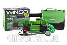 Автокомпресор WINSO 125000, 2 циліндра 10Amp / 85л. Клеми. Польша