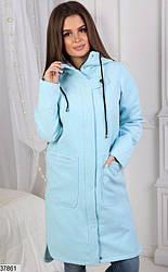Пальто кашемировое с капюшоном + (2 цвета)