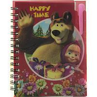 Блокнот купить на сайте, формат А6, детский с ручкой, пластиковаая политурка, 60 листов, клетка, №810