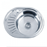 Врезная кухонная мойка Platinum 57*45*18 Satin 0.8 Мини-кепка, фото 1