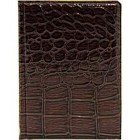 Визитница карманная, для дисконтных карт, коричневая, из кожезаменителя, вместимостью 16 карт