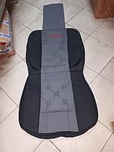 Накидка на автомобильное сиденье Vitol 1 шт Черная с серым