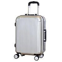 Оригинальный на колесиках пластиковый чемодан, средний.