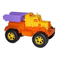 Игрушечные машинки и техника «Maximus» (5158) Самосвал Трак, оранжевый с желтым
