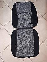 Накидка на автомобильное сиденье Vitol 1 шт Черная с серым, фото 1