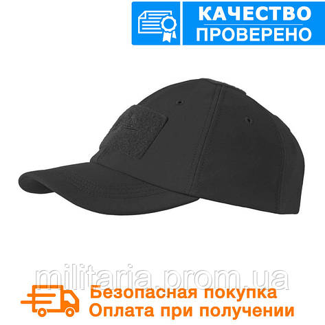 Зимняя бейсболка Helikon Tactical Baseball Winter Cap Black (CZ-BBW-FS-01), фото 2