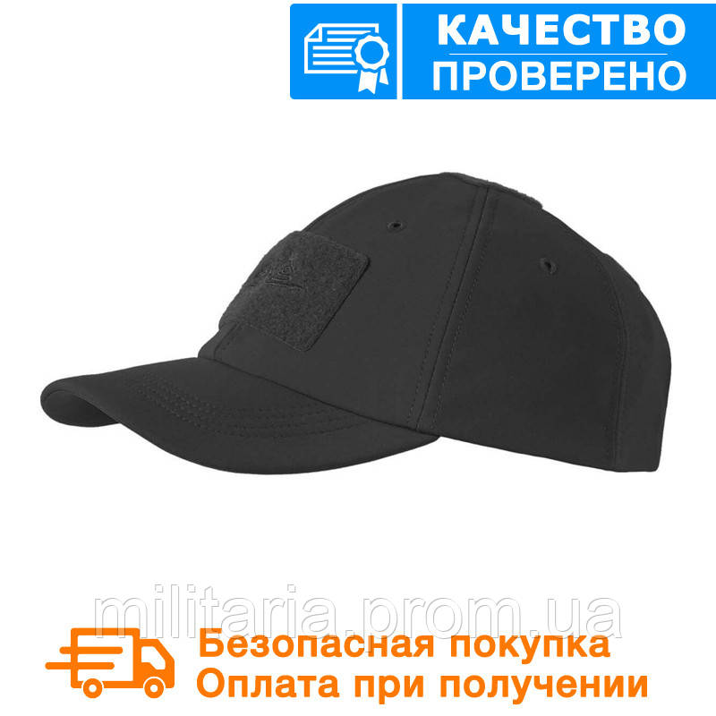 Зимняя бейсболка Helikon Tactical Baseball Winter Cap Black (CZ-BBW-FS-01)