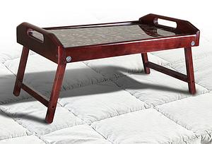 Деревянный столик для завтрака Микс 250х550х350 мм переносной