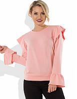 Розовый свитшот с оборками СК-497