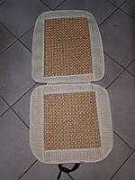 Накидка на автомобильное сиденье Vitol 1 шт Бежевая, массажная, фото 1