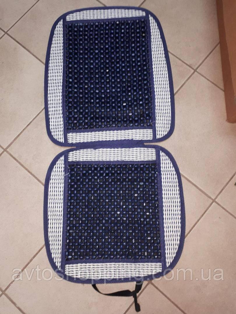 Накидка на автомобильное сиденье Vitol 1 шт Синяя, массажная