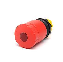 """Головка для кнопки """"грибка"""" аварийной d = 30 mm с фиксацией и возвращения поворотом красная серии СР"""