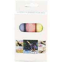 Мелки для рисования на асфальте цветные, 3 цвета,