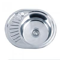 Врезная кухонная мойка Platinum 57*45*17 Decor 0.6 Мини-кепка, фото 1