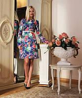 """Платье итальянское с принтом """"Сиеста"""" -2083"""