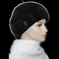 Норковая шапка бант женская меховая