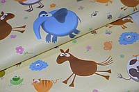 Обои на стену, бумажные,  развивающие обои,  детские,  122-01, 0,53*10м