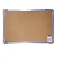 Доска офисная информационная пробковая в алюминиевой рамке (45x30 см)