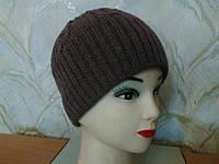 Женская двойная шапка Solene ТМ LOMAN, полушерстяная, цвет розовый, фото 1