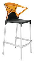 Барный стул Papatya Ego-K Bar черное сиденье