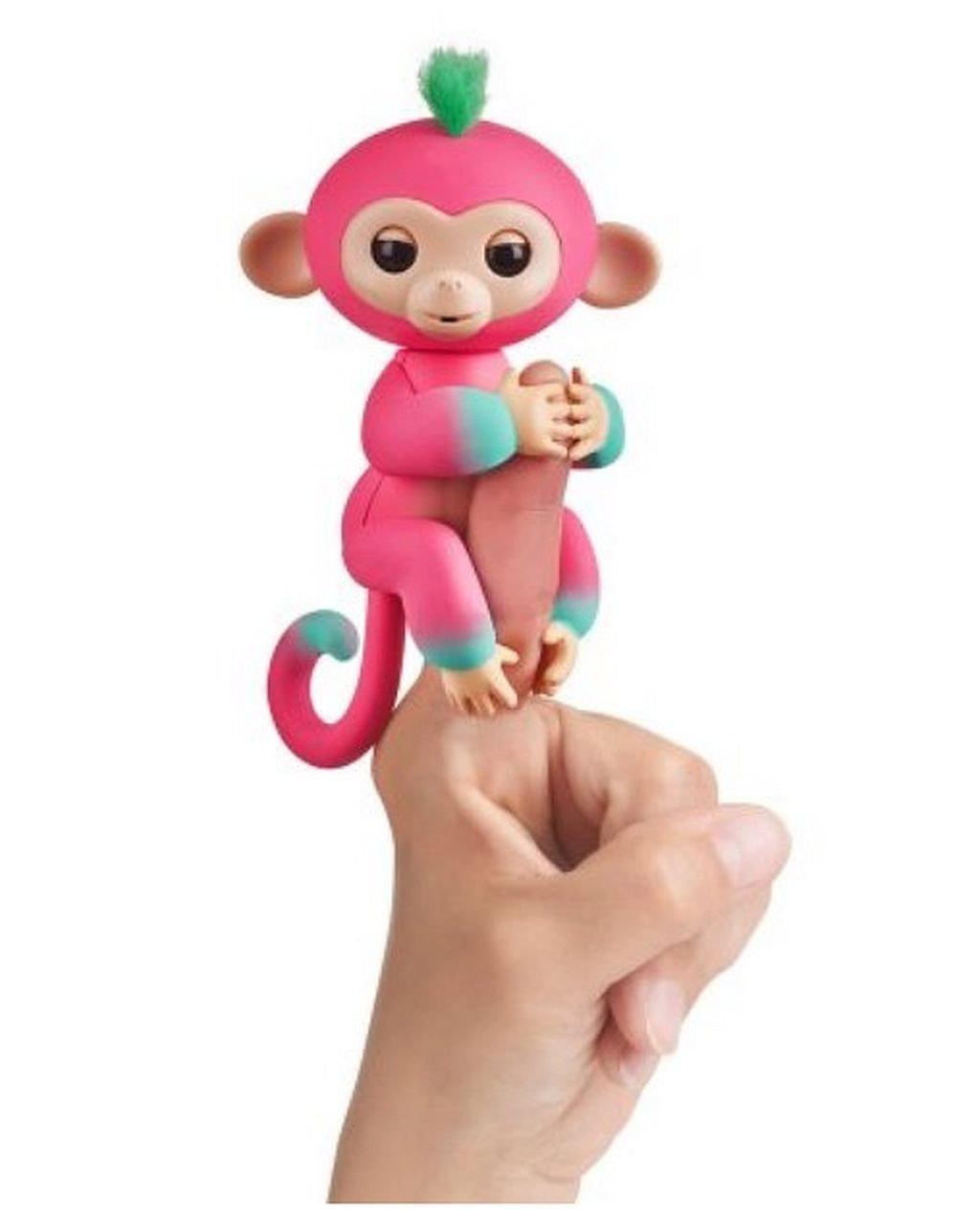 WowWee Fingerlings Интерактивная ручная обезьянка Melon Interactive Baby Monkey