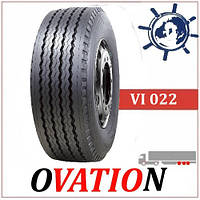 Грузовые шины 385/65R22.5 160K Ovation VI022 прицеп, прицепные усиленные шины на зерновоз, шины на прицеп 20PR