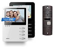 Комплект цветного видеодомофона с блоком памяти ARNY 410M