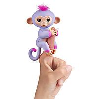 WowWee Fingerlings Интерактивная ручная обезьянка Sydney  Interactive Baby Monkey, фото 1