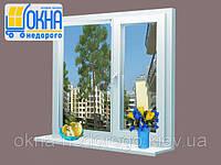 Двустворчатое ПВХ окно Veka EuroLine