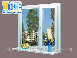 Двостулкове ПВХ вікно Veka EuroLine