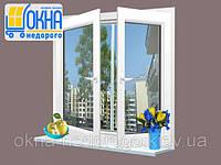 Двустворчатое ПВХ окно Veka EuroLine 2 открывания