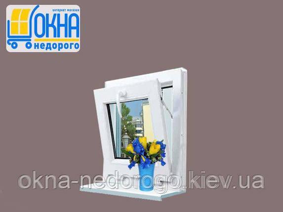 Фрамужное окно ПВХ Veka EuroLine, фото 2