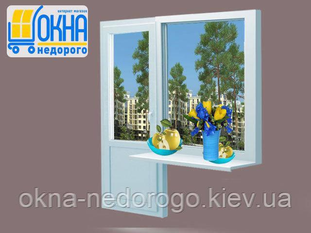 Пластиковый балконный блок  Veka EuroLine
