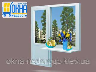 Пластиковий балконний блок Veka EuroLine