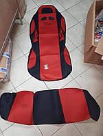 Чехлы на автомобильные сидения НАБОР Vitol 1 шт Красный с черным