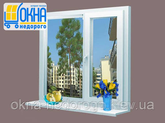 Двустворчатое пластиковое окно Veka SoftLine , фото 2